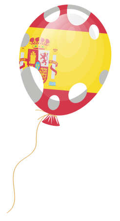 edit valentine:   illustration of balloon flag of Spain