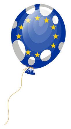council:  illustration of balloon flag of European Union
