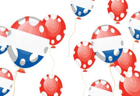 edit valentine:  illustration of flag of France in balloon shape