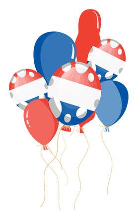 francaise: vector illustration of flag of France in balloon shape Illustration