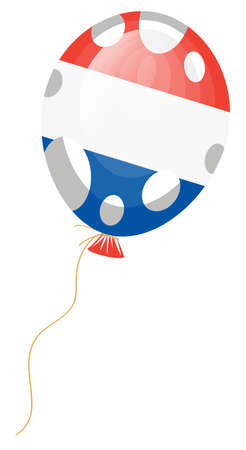 republique:   illustration of flag of France in balloon shape