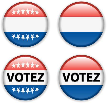 republique: vector illustration of empty vote badge button for francefrench elections Illustration