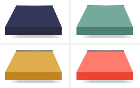 awnings:  illustration of Four Different Colored  Awnings, Red, Green, Yellow, Blue