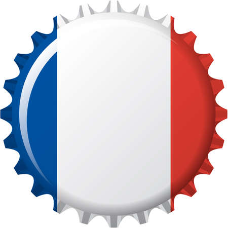 hexagone:  illustration of flag of France in crown cap