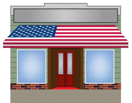 illustratie van USA gemarkeerd kleur Vector luifel  Vector Illustratie