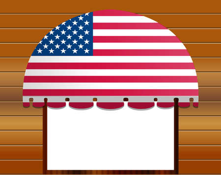 illustration of usa flagged color Vector awning  Stock Vector - 8742926