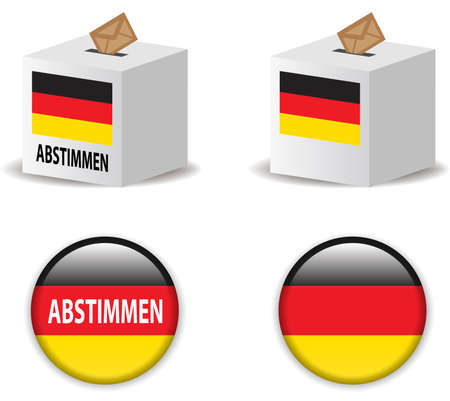 presidental: illustration of  vote poll ballot box for germany  germany elections