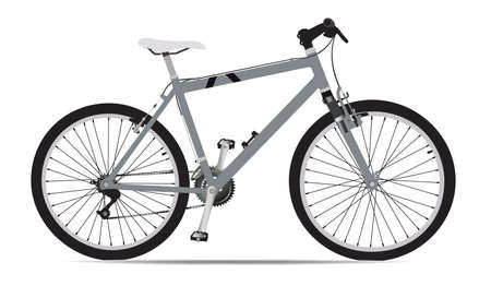 5ba2528797 illustration of Mountain Bicycle in grey isolated on white