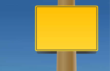 telephone pole: A street sign in order to write custom message to show