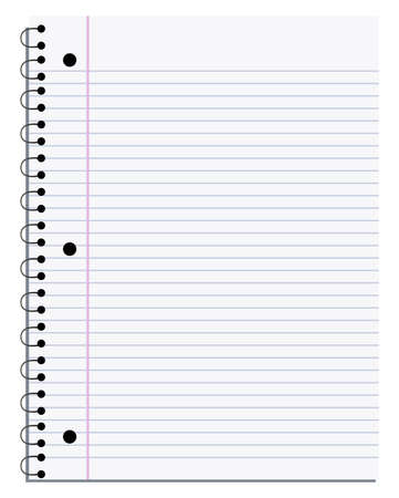 illustration of a blank notebook page that you can customise Vector