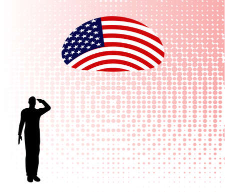 power rangers: Silhouette of an army soldier on a platform saluting a usa flag