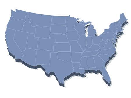 carte des États-Unis d'Amérique Vecteurs