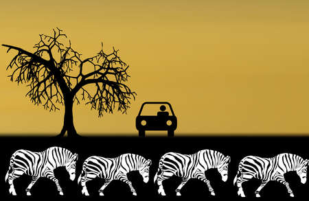 illustration of safari in africa Vector