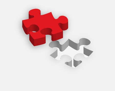 attach: concepto de la aptitud a la necesidad a través de la ilustración Puzzle