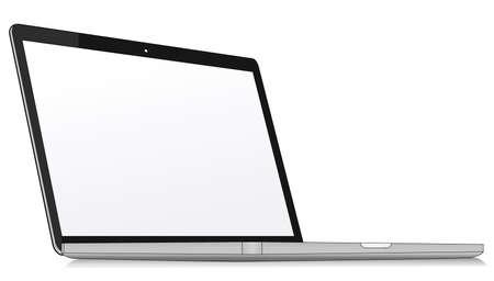 notebook desktop computer with screen Vector