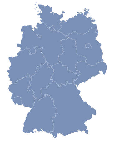 stuttgart: vector map of Germany each division can be edited Illustration