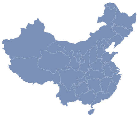 municipalities: vector map of Peoples Republic of China (PRC)