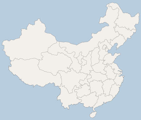 china map: vector map of Peoples Republic of China (PRC)