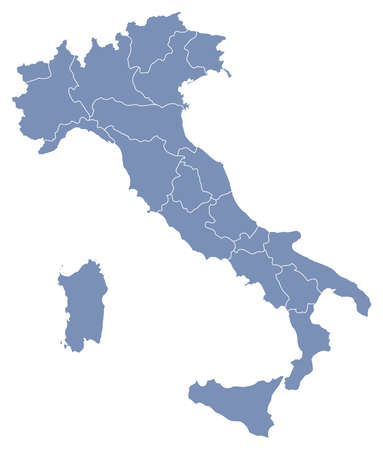 regions: vector map of Italy