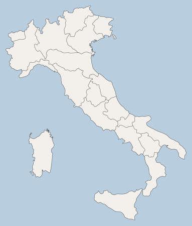 municipalities: vector map of Italy
