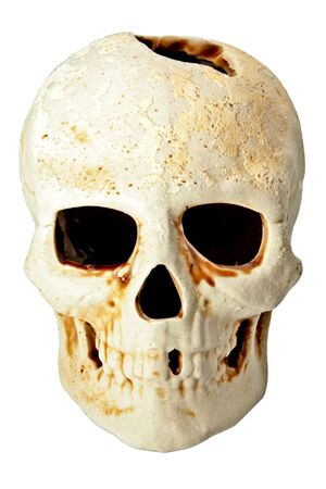 fas: isolated skull in fas with hole on top