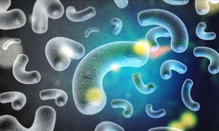 Background image of Bacteria. 3d illustration  Stok Fotoğraf