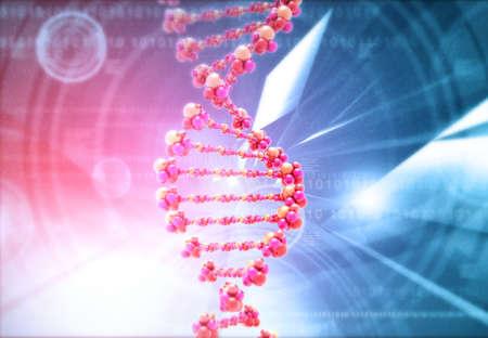 DNA with scientific background. 3d render 写真素材