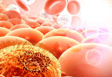 Cancer cell growth concept  . 3d illustration Reklamní fotografie