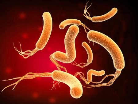 3d rendering virus, bacteria abstract background. 3d illustration Reklamní fotografie