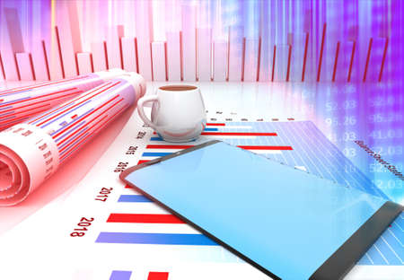 Business analyzing  concept background. 3d illustration