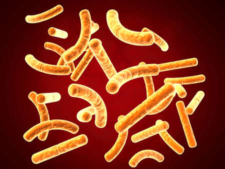 3d rendering virus, bacteria abstract background. 3d illustration Stockfoto