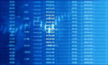 Stock market graph background. 2d illustration