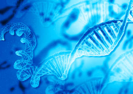 DNA on abstract scientific background. 3d illustration