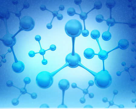 Abstract molecules structure, science  background. 3d illustration Stock Photo