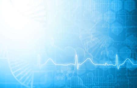 科学と医療の背景。3D イラスト