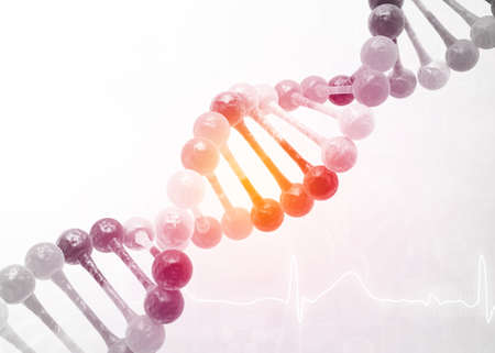 DNA on abstract science background. 3d illustration