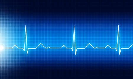 Ecg graph medical background. 3d illustration Stock Photo