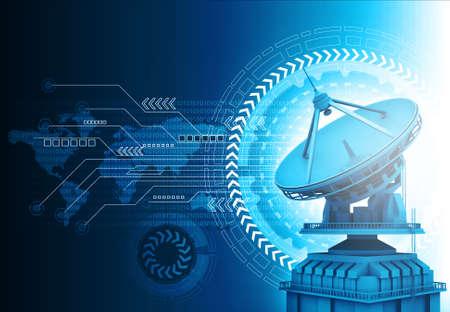 Satellite communication dish antenna Фото со стока