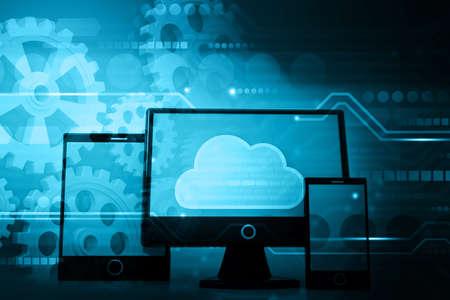 Cloud computing concept. 3d illustration 版權商用圖片