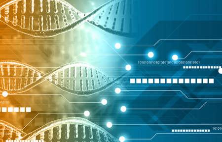 DNA technology background. 3d illustration