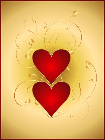 Valentine postcard 5 Vector