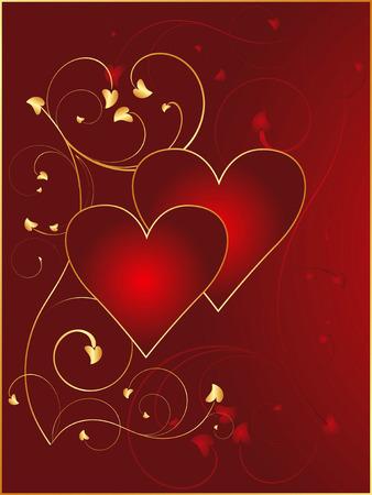 Valentine postcard 3 Vector
