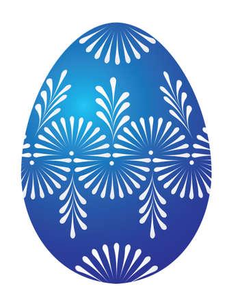 Vector of blue egg on white background Stock Vector - 2536622
