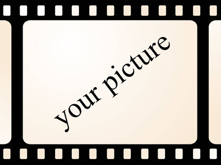 Place on your photo on old movie film Vector