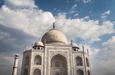 tajmahal image with blue sky background image taken at agra uttar pradesh india. Stock Photo - 130500689
