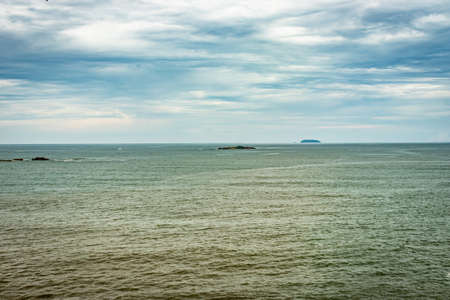 sea horizon at early in the morning from flat angle image is taken at early morning. it is showing the beautiful seascape of nature.