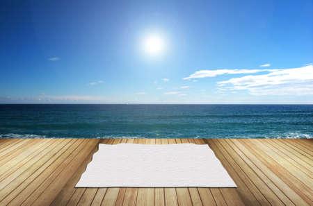 terrace overlooking the sea Standard-Bild