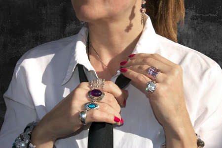 rings and bracelets in Executive woman photo