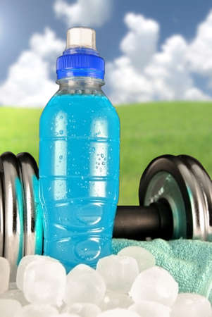kilograms: special sports drink and extreme sports gyms Stock Photo