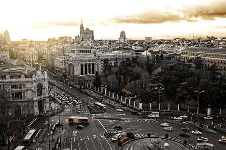 スペインのマドリード市の一般的なビュー 写真素材
